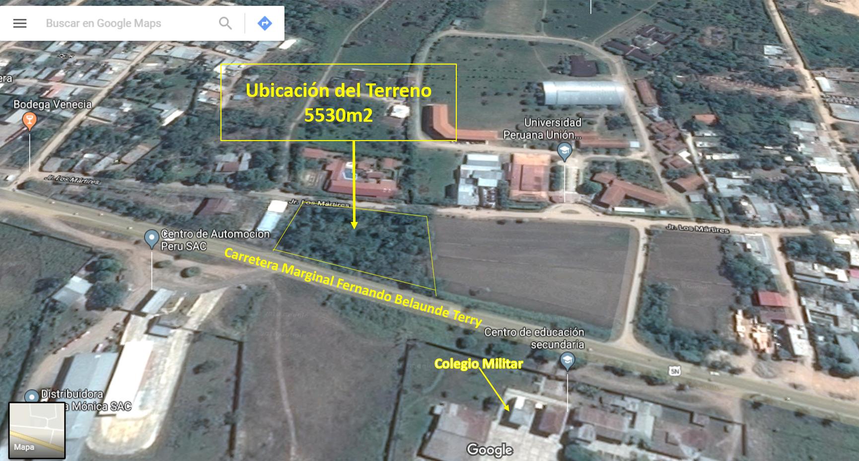 Excelente Terreno en Tarapoto, Morales Frente al Colegio Militar