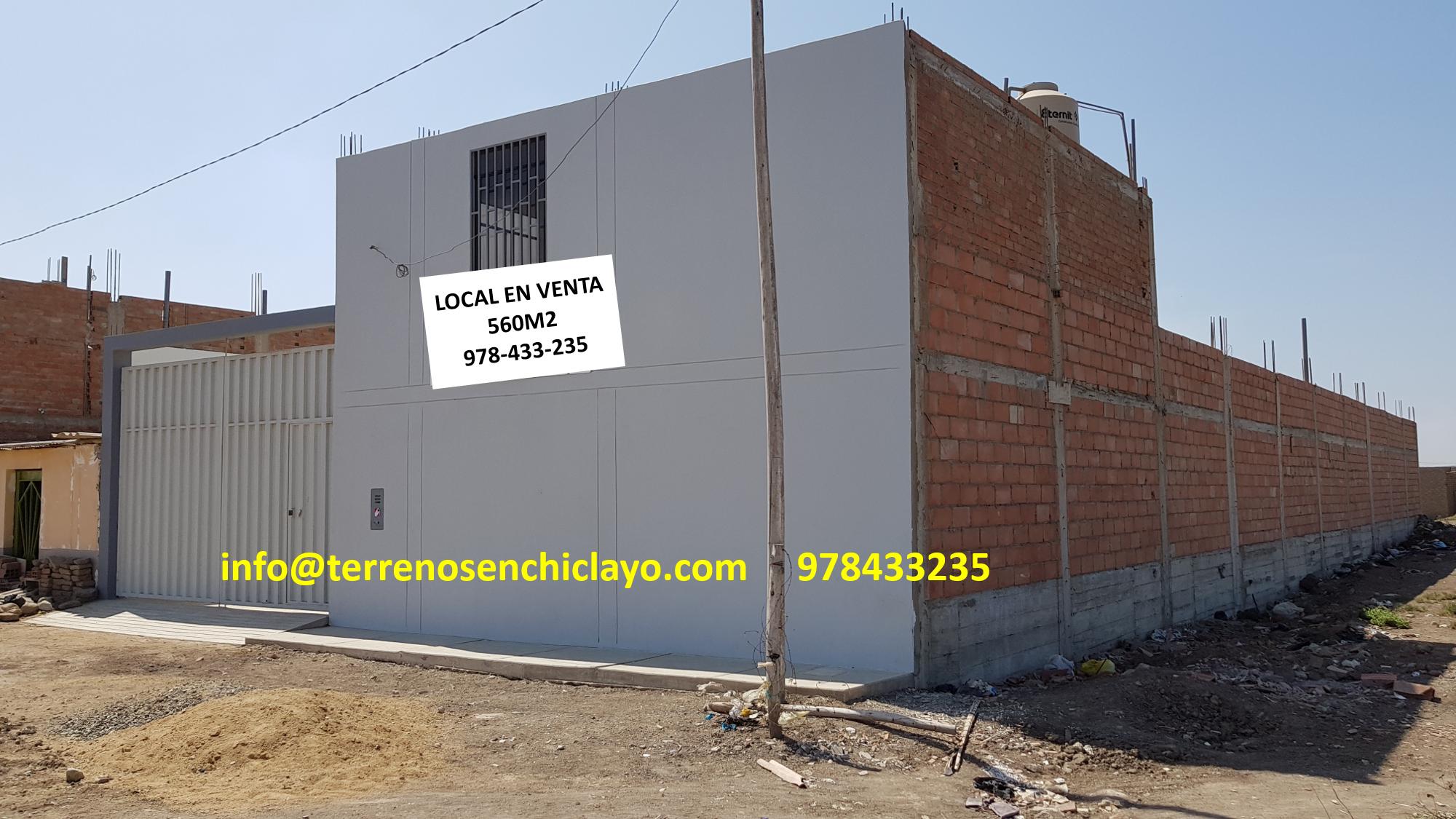 Local Circulado, en Esquina 560m2  (La Victoria-Chiclayo) AV. Pachacútec