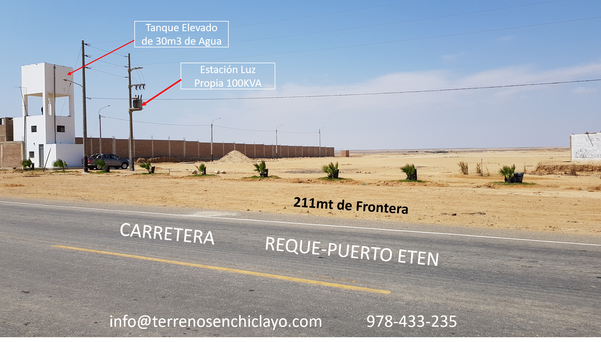 Hermoso Terreno, Frente a La Carretera a Puerto Eten (Reque-Chiclayo)