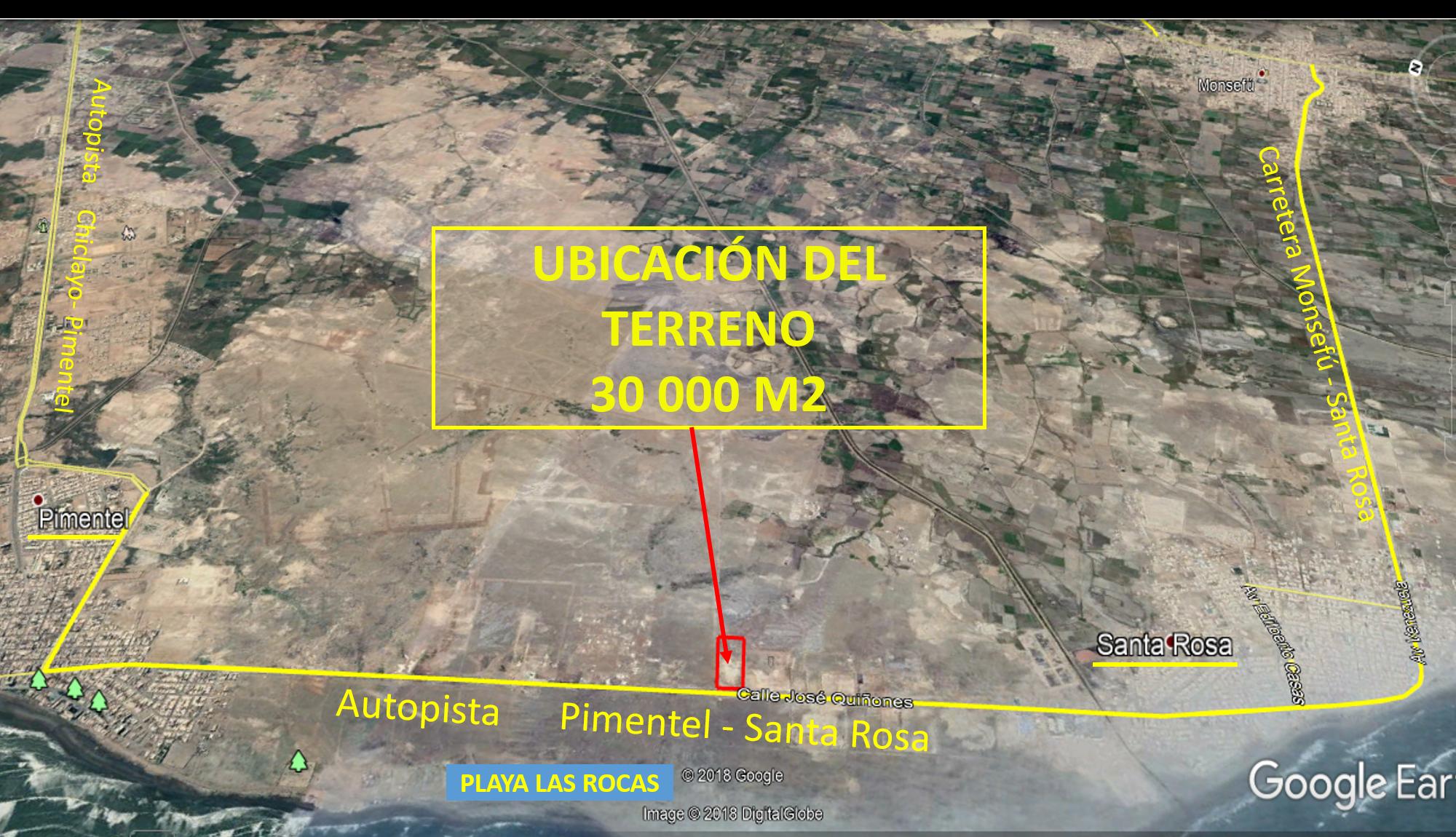 Terreno Comercial-Industrial 30,000m2 Carretera Pimentel-Santa Rosa
