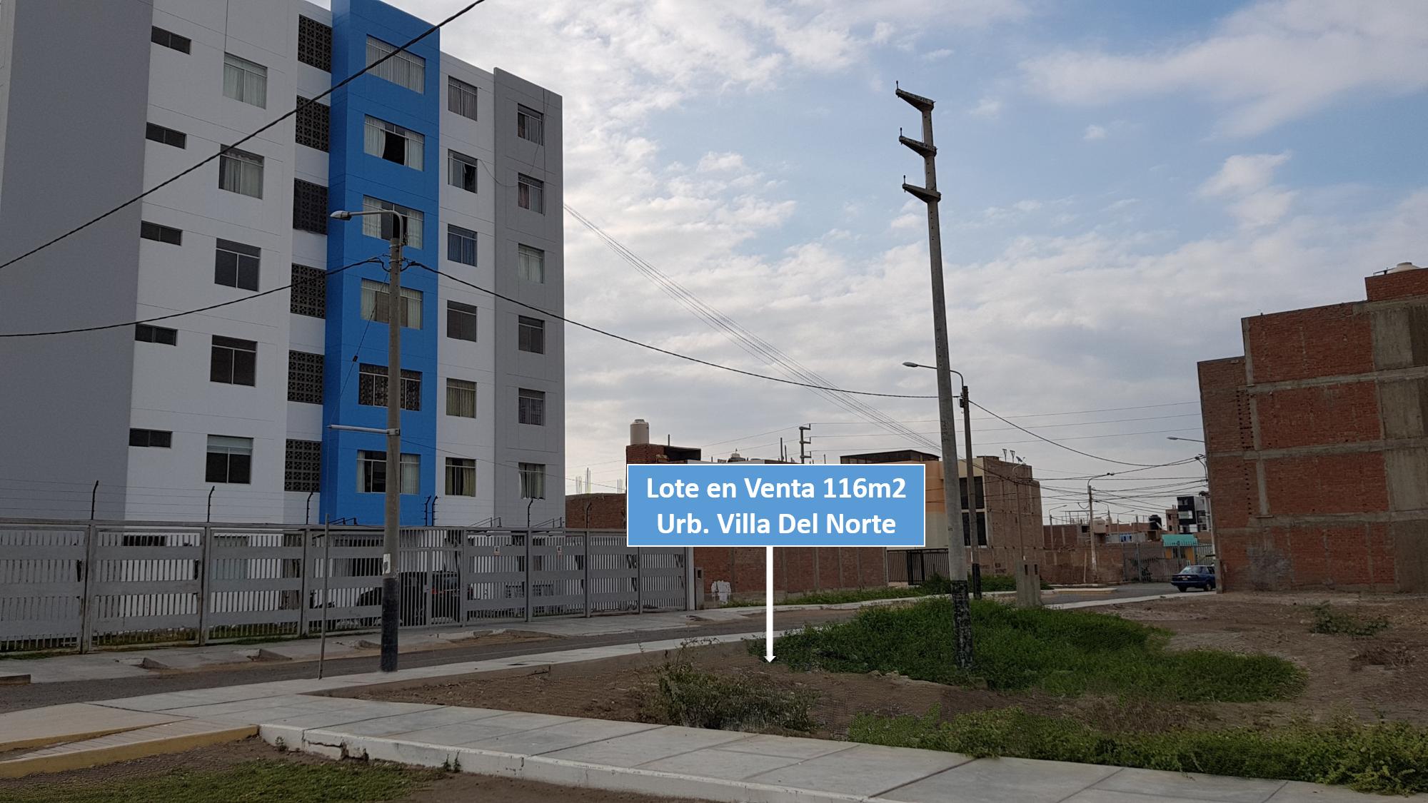 Lote de 116.25m2, Urbanización  Villa del Norte-Chiclayo